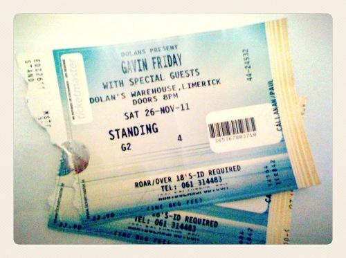 Tickets-limerick